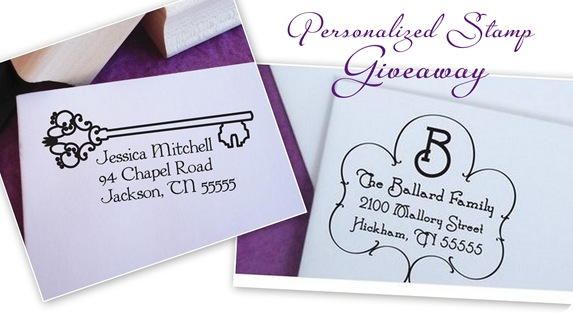 personalized stamp giveaway