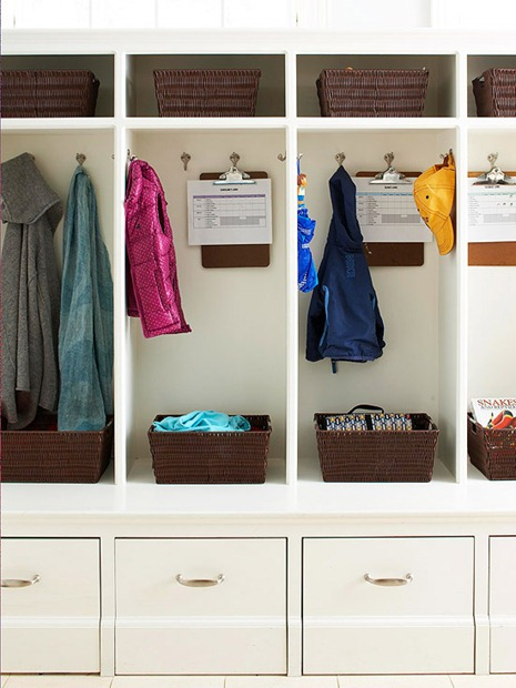 organized storage mud room bhg