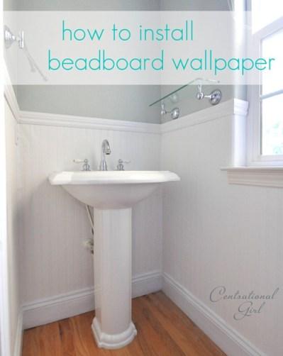 Installing Beadboard Wallpaper | Centsational Style
