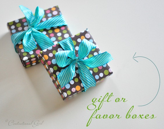 diy gift or favor boxes