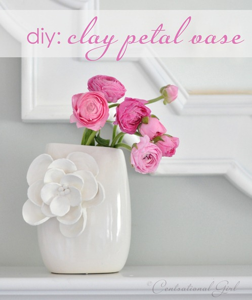diy clay petal vase cg