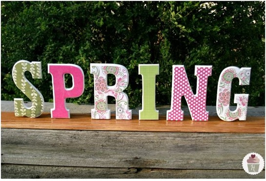 spring fabric letters