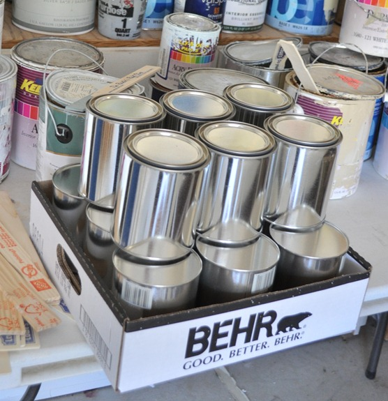 silver quart paint cans
