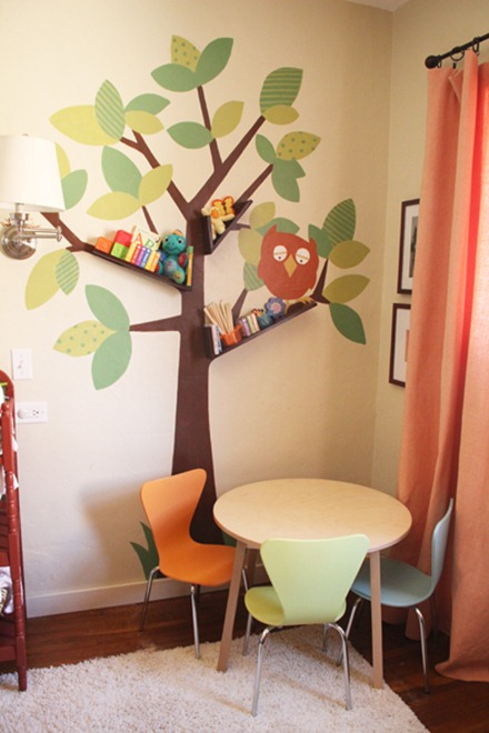 tree branch diy bookshelves pepper blog