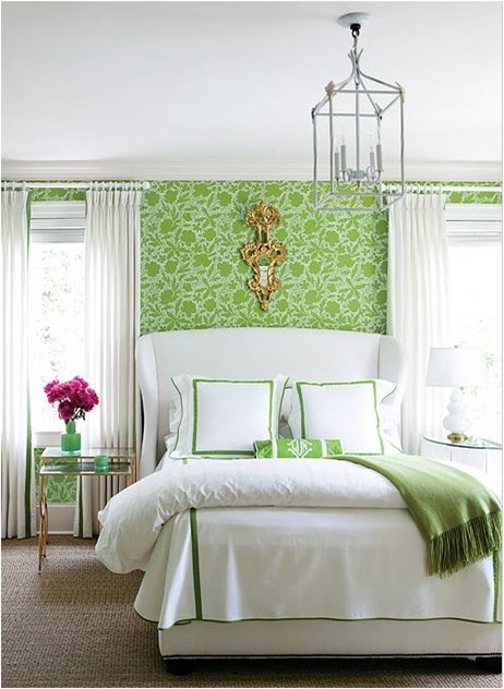 green floral wallpaper atlanta homes