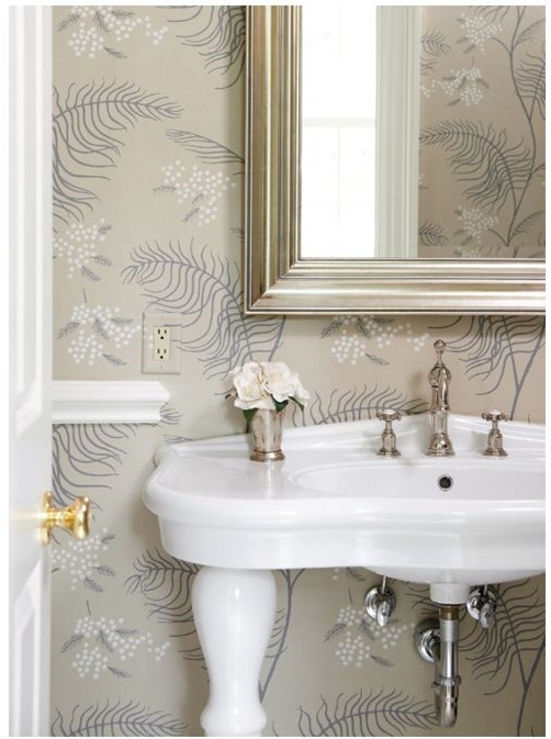 wallpapered bath muse interiors