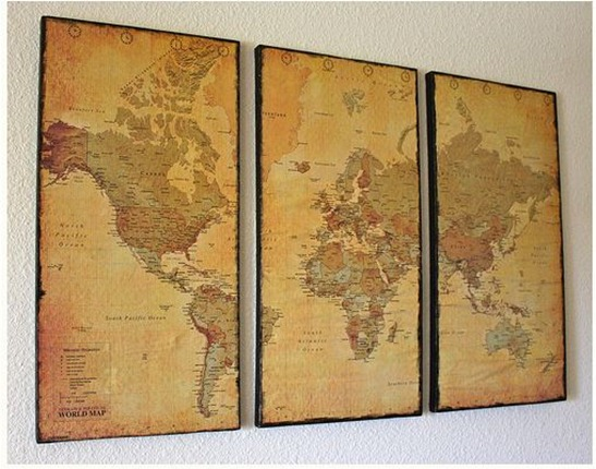 map wall art twocraftysisters