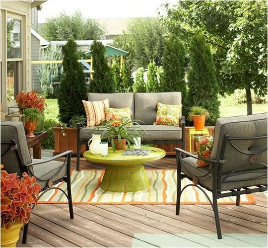 deck with outdoor seating bhg