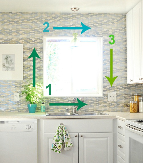 direction to tile around window