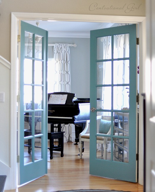 diy painted french doors
