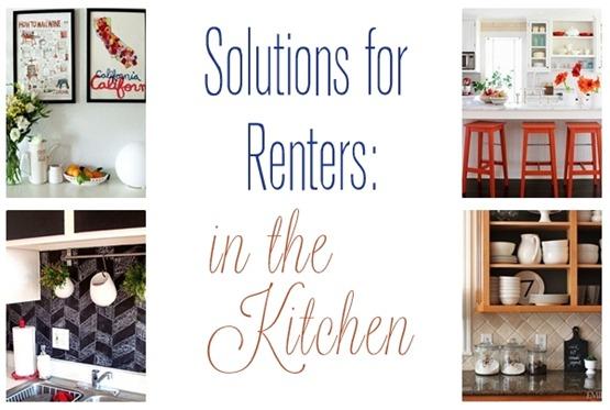 solutions renters kitchens centsational girl rental friendly kitchen update wallpaper cabinets