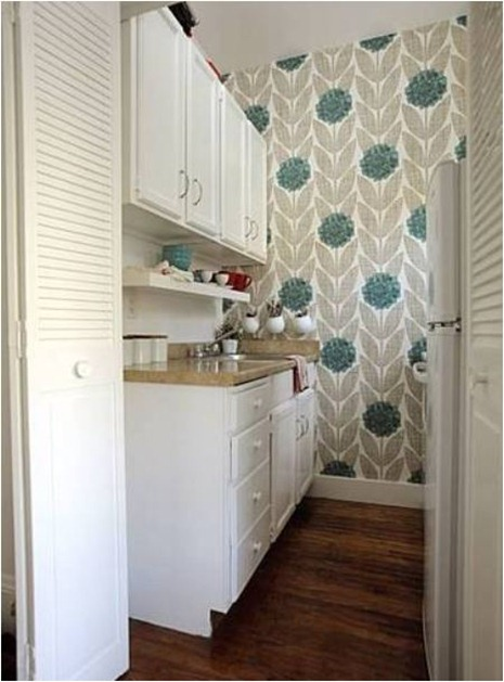 Kitchen Cabinet Stick On Wallpaper Solutions For Renters: Kitchens | Centsational Girl