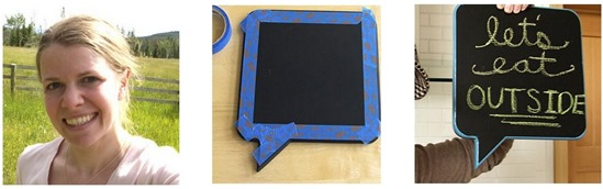 making this home chalkboard project