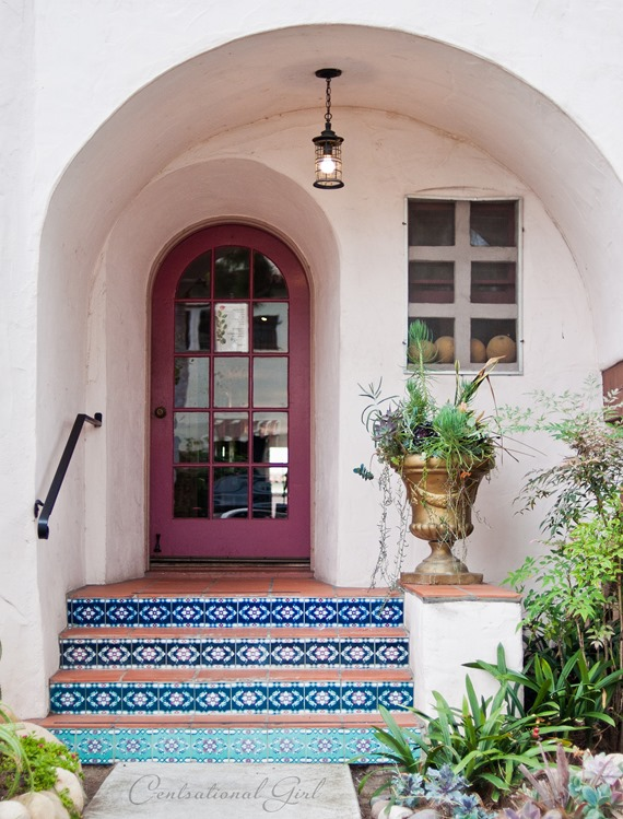 arched door tiled staircase cg