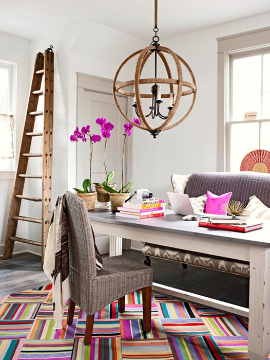 bright striped rug bhg