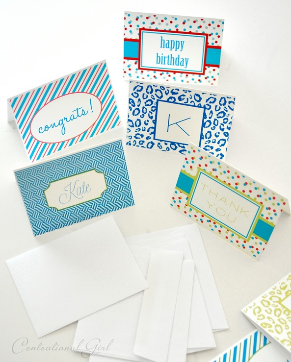 diy personalized notecard collection