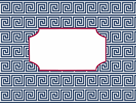 navy and pink greek key