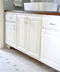 Painted Bathroom Cabinets   Centsational Girl