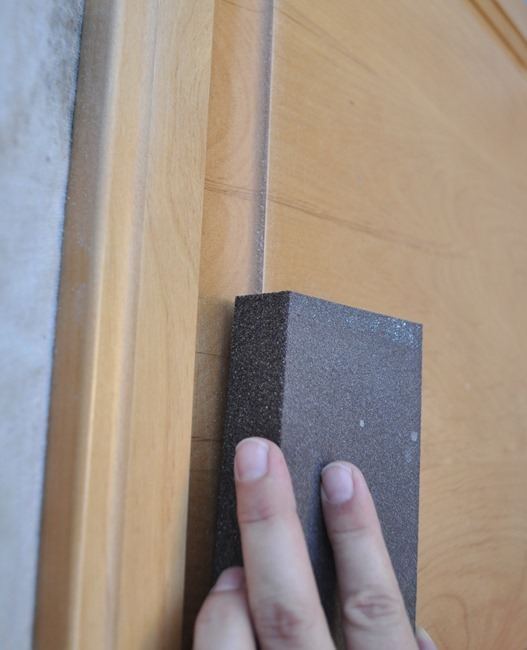 scuff with sanding wedge