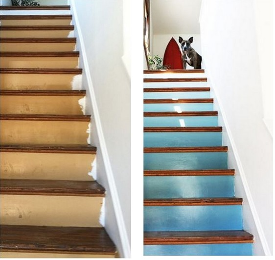 staircase before and after