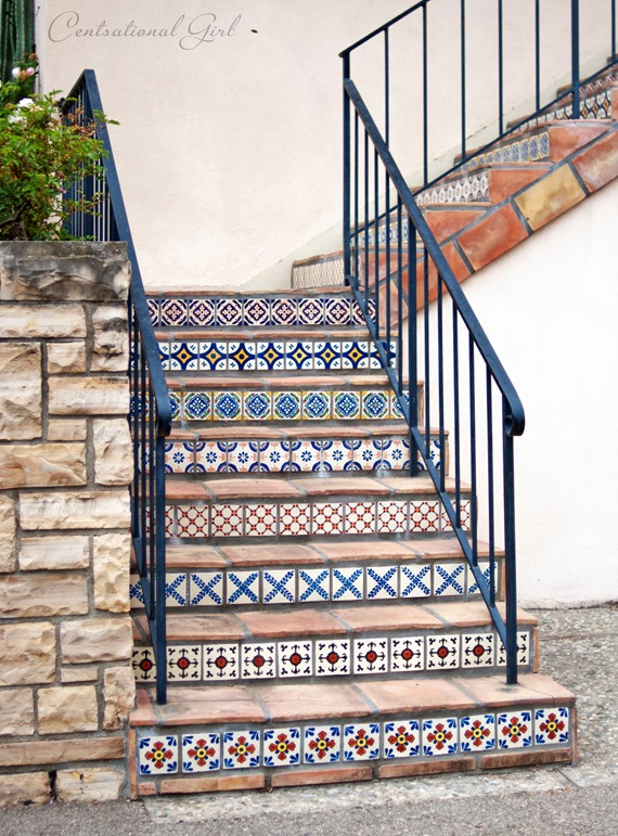 stone and tiled staircase cg