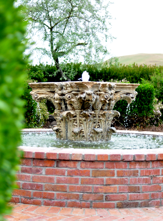 brick fountain