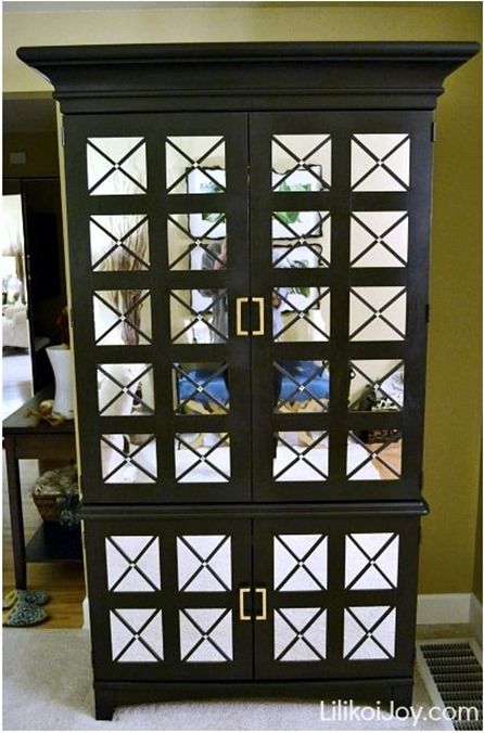 mirrored armoire makeover lilikoijoy