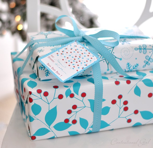 sprig paper blue ribbon