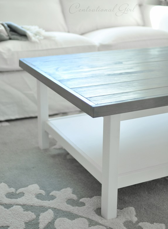 Weathered Gray Coffee Table Centsational Girl