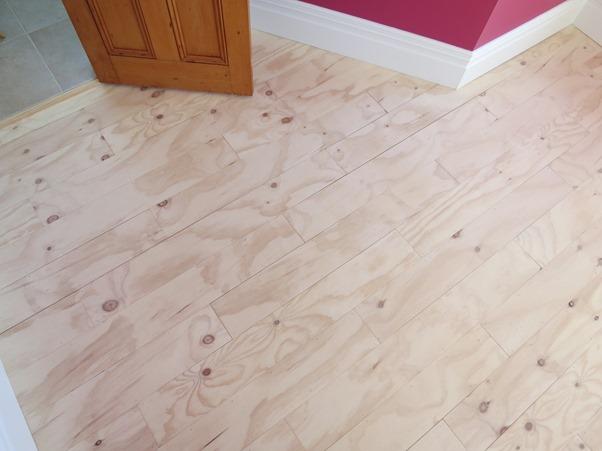 Plywood For Flooring. Plywood Floor White Wood Farmhouse Floor