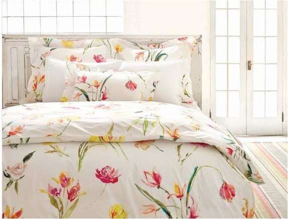 watercolor floral bed pineconehill
