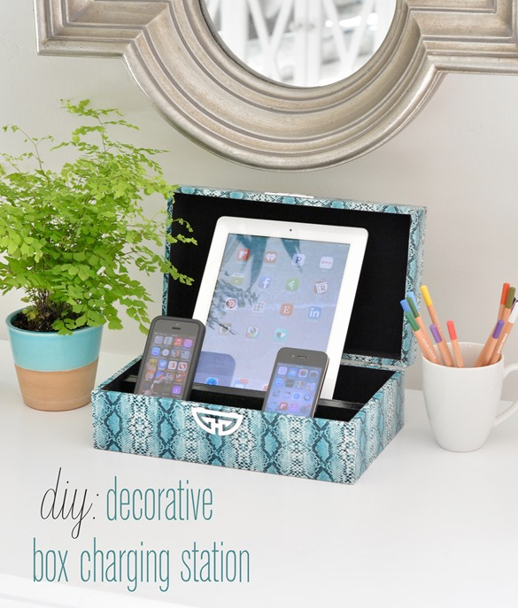 diy decorative box charging station