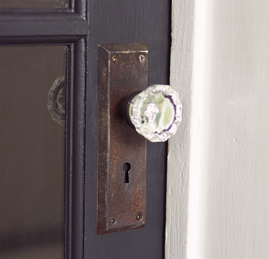 diy glass knob door hardware