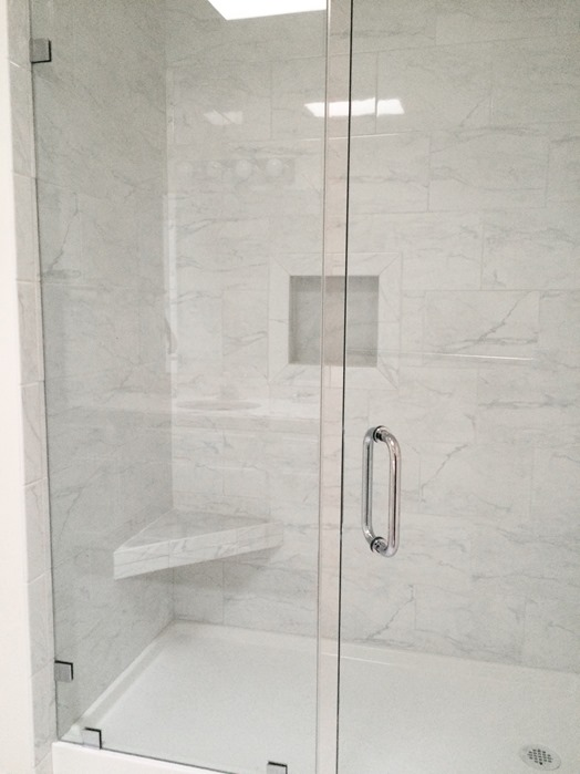 Lovely 29 Inch White Bathroom Vanity Thick Bathroom Vanities Toronto Canada Square Silkroad Exclusive Pomona 72 Inch Double Sink Bathroom Vanity Lowes Bathroom Vanity Tops Young Memento Bathroom Scene YellowReplace Bathtub Shower Doors Grandma\u0026#39;s Walk In Shower | Centsational Girl