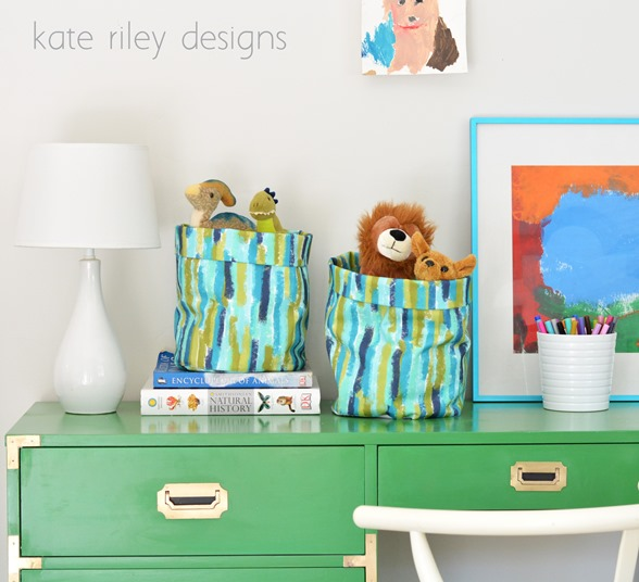 brushstroke fabric buckets