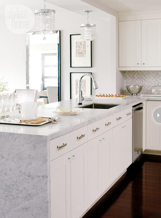 Countertop Waterfall Edge : To Waterfall or Not To Waterfall Centsational Girl