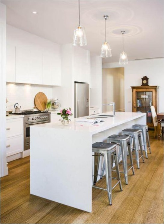 Kitchen Island Overhang For Stools To Waterfall Or Not To Waterfall | Centsational Girl