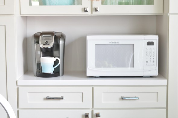 microwave on counter