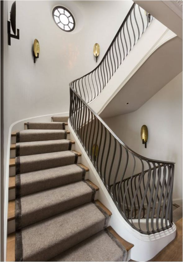 wave staircase railing