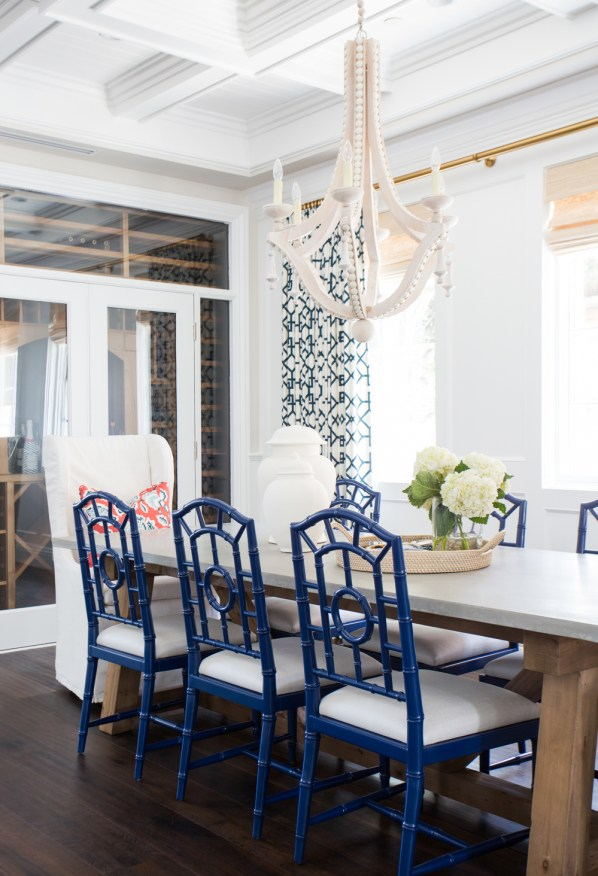 blue chippendale dining chairs