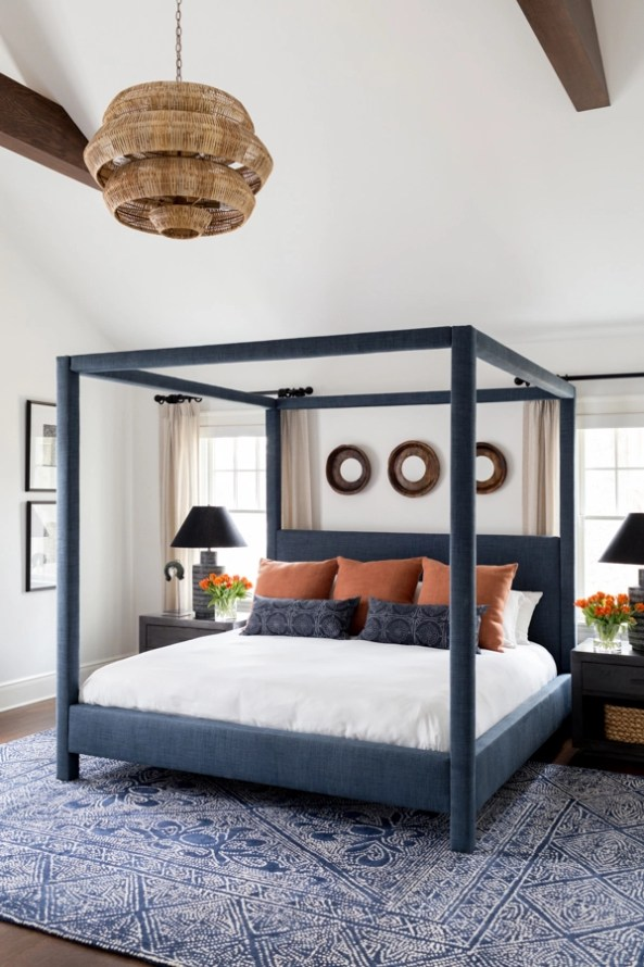Layering rugs under beds centsational girl - What size fan should i get for my bedroom ...