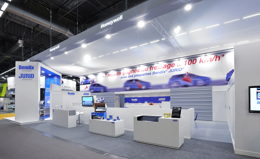 Presse Décoration Stand Honeywell - Salon Equipauto - Centthor