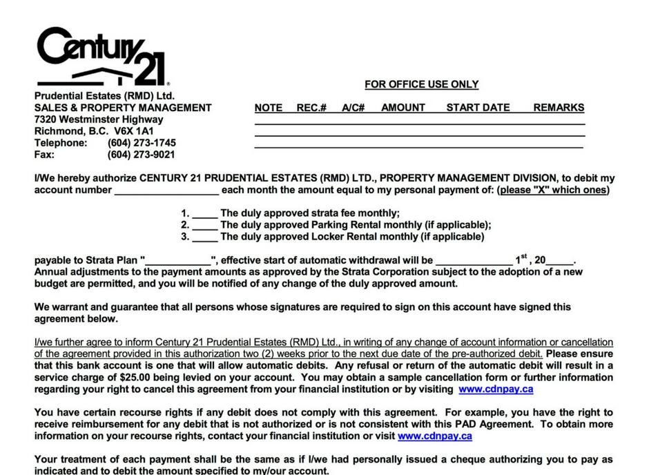 Rental Forms  Documents \u2013 Century 21 Prudential Estates Richmond BC