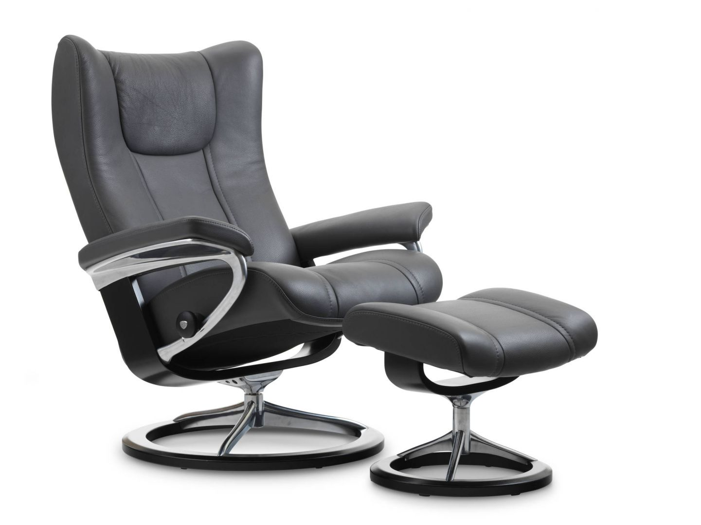 Stressless Wing Signature Sessel Stressless Wing Chair And Ottoman Signature Base The