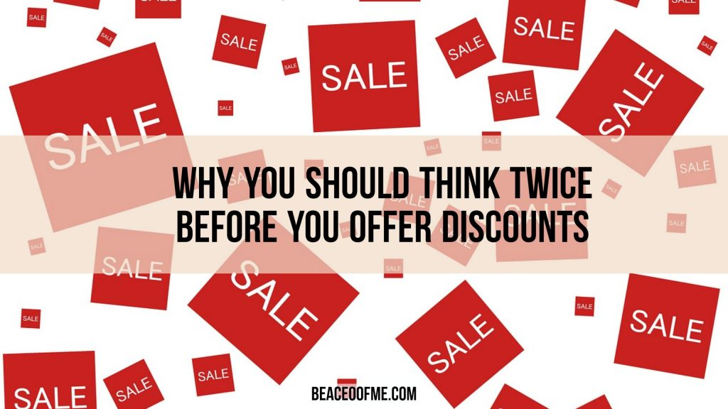Direct sales Reps - Why you think twice before offering discounts