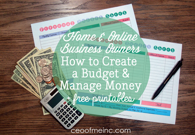 How to Create a Budget and Manage Money as a Home or Online Business - budget online free