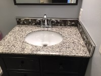Aluminum flat pebble bathroom backsplash Clearwater ...