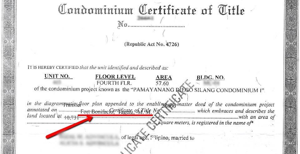 Certificate of Title Certificate Of
