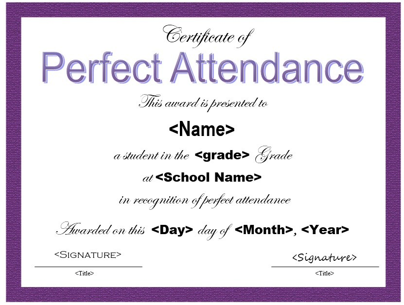 Certificate of Attendance Template Certificate Of