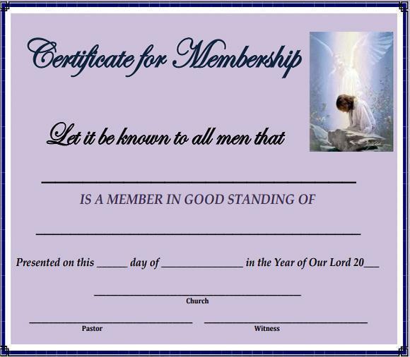 Free Sample Certificate of Membership Templates Certificate Of